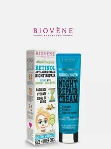 BIOVENE Retinol Anti-Aging Night Cream Repair Night Cucumber & Cocoa Butter 75ml