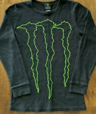 Monster Energy Black long sleeve shirt RARE Big logo thermal Size XXL