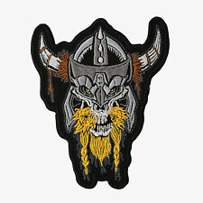 VIKING SKULL Embroidered Biker Patch