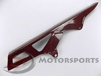 RED 2006-2010 GSX-R 600 750 Rear Chain Guard Mud Cover Fairing Cowl Carbon Fiber