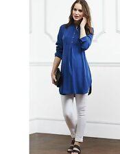 c342d97fdcf Isabella Oliver Marnham Maternity Tunic Blouse Long Shirt Rich Navy Size 14