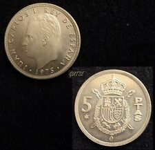 *GUTSE* 5 PESETAS 1975*79, PROOF.