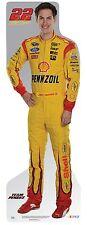 JOEY LOGANO #22 (Pennzoil) NASCAR Life Size Standup/Standee/Cardboard FREE MINI