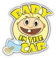 """Baby In The Car Sign Car Bumper Sticker Decal 5"""" x 5"""""""