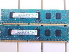 2 Barrettes Mémoire ECC HYNIX  HMT325R7BFR8A-H9 2GB (2x2GB) DDR3 PC3-10600U