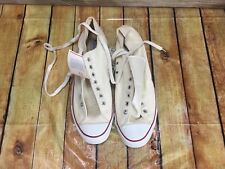 White Vintage Converse All Star Chuck Taylor Low top Sneaker New Size 14 1/2