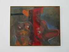 MADELEINE WOOD PAINTING VINTAGE ABSTRACT FIGURAL  NUDE MODERNISM  EXPRESSIONISM