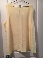 Yellow Sleeveless Vest Tunic Target SZ 26 BNWT