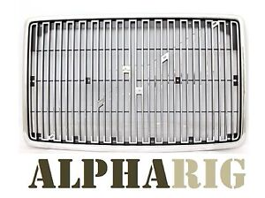 ALPHARIG CHR & BLK Grille1996-2003 VOLVO VN Front Chrome / Black with Bug Screen