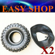 2X 4.10/3.50 - 4'' inch Tyre Tire + Tube Ride On Lawn Mower Scooter Buggy Gokart