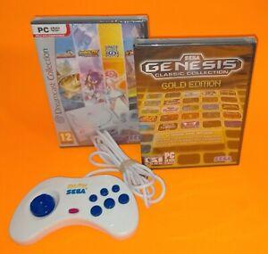 Sega Megadrive/Genesis/Dreamcast Gold Collection PC CD/DVD ROM & USB Controller