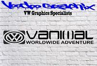 Volkswagen VW VANIMAL Window Bumper logo Sticker Transporter T6 T5 T4 Campervan