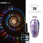 Modelones Glitter Nail Art Soak off UV Nail Gel Polish Led Varnish Manicure 10ML