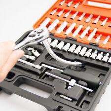 "53PCS Smart Socket Wrench Set CRV 1/4"" Drive Metric Flexiable Extension Bar 0610"
