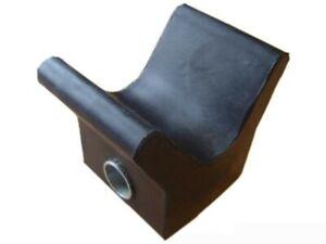 Bughalter für Bootsanhänger / Bootstrailer - Bugschutz, Bugpuffer Gummi schwarz