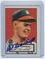 1952 BRAVES Del Crandall signed card Topps Reprint #162 Boston Autographed AUTO