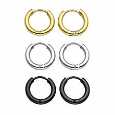 Men Women Stainless Steel Small Hoop Earrings Cartilage Lip Piercing Nose Hoop