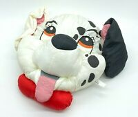 "DISNEY Vintage 101 Dalmatians Puppy Dog 13"" Stuffed Play Faces Pillow"
