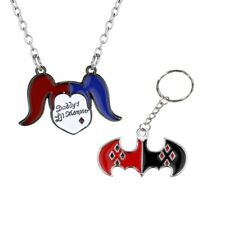 Harley Quinn Necklace AND Keyring set - Suicide Squad - Daddy's Lil Monster