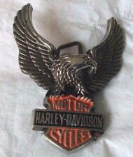New Vintage Harley Davidson Baron Belt Buckle 1983 Solid Brass H502