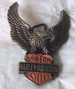 New Vintage Harley Davidson Baron Belt Buckle 1983 Solid Brass H502