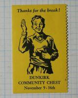 Dunkirk Community Chest Patriotic Poster Stamp