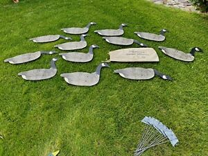 Johnson's Folding Goose Decoys, Outstanding, Maybe Unused, Canvas Bag n Stakes