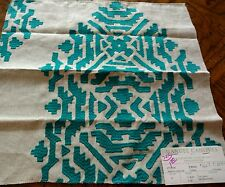 "MANUEL CANOVAS Fabric Remnant - FRIDA - 04-  SUZANI Embroidery - 17"" x16"" - $266"