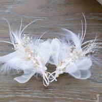 Feather Flower Hairpin Bride Wedding Hair Accessories Bridal Flower Headdress
