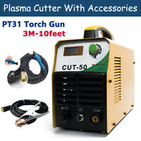 50A Air Plasma Cutter With Cutting Torch  & Consumables Cut 12mm Inverter Welder