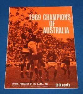 1969 Champions of Australia Football Budget Richmond v Sturt SANFL VFL