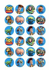 24 x TOY STORY Wafer Rice Paper Cupcake Toppers EDIBLE CAKE Woody Buzz Lightyear