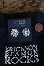 of Glass Hematite Crystal Post Earrings New W.Pouch Erickson Beamon Rocks Heart