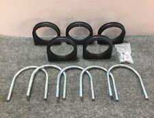 "New listing New Lot of 5 Unistrut Ub4Pa 4"" U-Bolt Cush-a-Clamp Pipe Size Steel Cushioned"