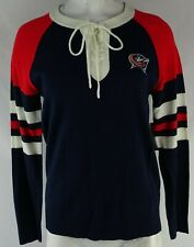 Columbus Blue Jackets Touch Women's Navy Lace Up Sweater NHL
