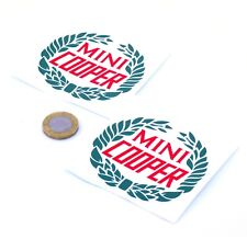 Mini Cooper Sticker Decal Classic Car Vinyl 75mm x2 Vintage Mini