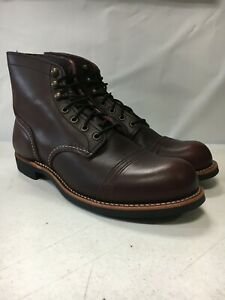 NEW W DEFECTS RED WING MENS 6 INCH IRON RANGER 8119 OXBLOOD SIZE 10 FREE SHIP