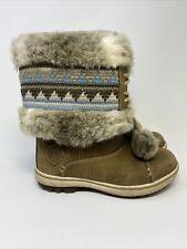 Helly Hansen Leather Waterproof Winter ISKORAS Snow Boots Size 6.5 Faux Fur.
