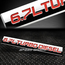 METAL GRILL TRUNK EMBLEM DECAL LOGO TRIM BADGE POLISH RED 6.7 L TURBO DIESEL