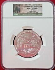 2014-P ATB 5 oz silver Smoky Mountains NGC SP-69 Early Releases