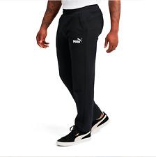 Puma Mens Pants Size 2XL Black Essential Logo Fleece Sweatpants 851755-01