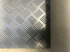RUBBER CHECKER PLATE FLOORING/MAT/MATTING W1200MM X L800MM