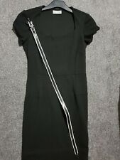 Black Wallis Work Dress, Size 8, With Short Sleeve And Matching Belt
