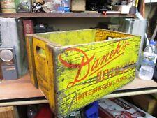 DANEK'S VINTAGE wooden BEVERAGE soda CRATE pop wood carrier HUTCHINSON MN