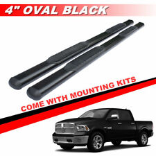 "4"" Black Oval Nerf Bar For 2009-2018 Dodge Ram 1500 Crew Cab Running Boards"