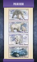 Sierra Leone 2018 MNH Polar Bear 4v M/S Wild Animals Bears Stamps