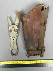 Vintage Elgin Bicycle Adjustable Alligator Wrench w/ Leather Case June 8, 1897