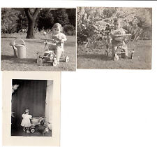 Lot 3 Vintage snapshots abstract mom todler Taylor Tot Child Walker water can