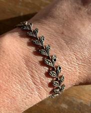 Genuine ART DECO Era, Solid Sterling Silver & Marcasite Bracelet. As Found.