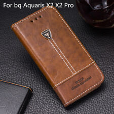For bq Aquaris X2 X2 Pro Flip Pu Leather Silicone Back Cover Card Slot Book Case
